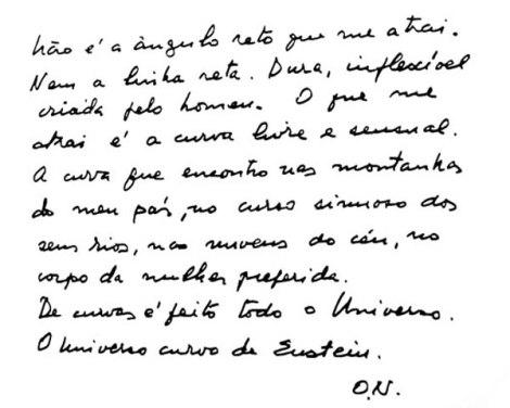 manuscrito Niemeyer arquitetura