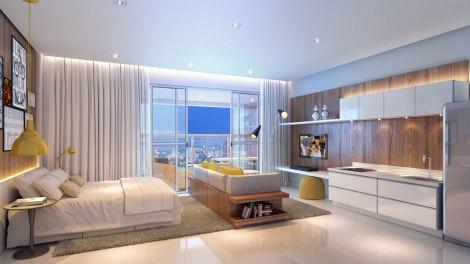 apartamentos studio area decoracao interior minimalismo Sao Paulo arquitete suas ideias (1)