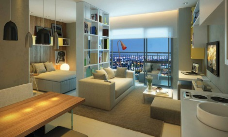 apartamentos studio area decoracao interior minimalismo Sao Paulo arquitete suas ideias (5)
