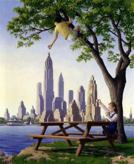 Rob Gonsalves pintura misteriosa imaginario artista realidade sonho criatividade arquitete suas ideias (10)