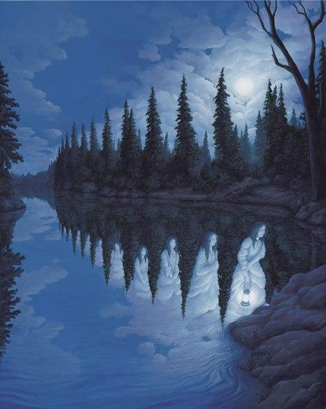Rob Gonsalves pintura misteriosa imaginario artista realidade sonho criatividade arquitete suas ideias (15)