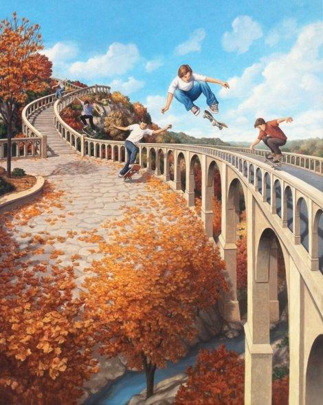 Rob Gonsalves pintura misteriosa imaginario artista realidade sonho criatividade arquitete suas ideias (2)