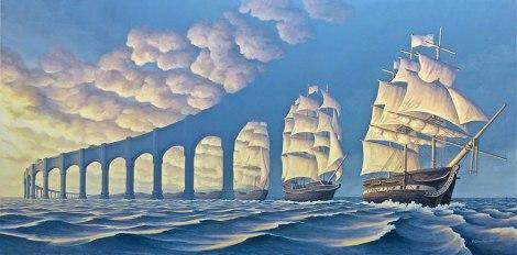Rob Gonsalves pintura misteriosa imaginario artista realidade sonho criatividade arquitete suas ideias (4)