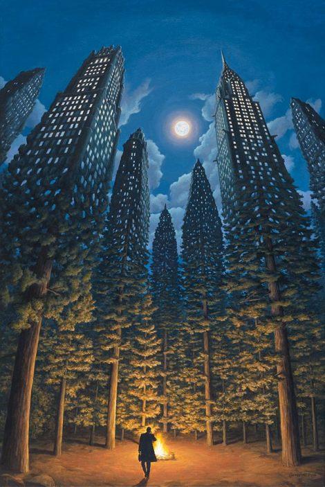 Rob Gonsalves pintura misteriosa imaginario artista realidade sonho criatividade arquitete suas ideias (6)