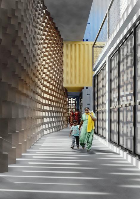 Container concurso favela Mumbai arquitetura sustentabilidade arranha ceu arquitete suas ideias (2)